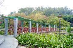 Leisure pavilion and corridor Royalty Free Stock Photo