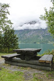 Leisure - Picnic in Norway. Europe travel destination Royalty Free Stock Photo