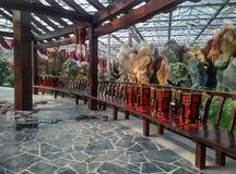 Leisure promenade. The traditional Oriental architectural style leisure promenade Stock Photos