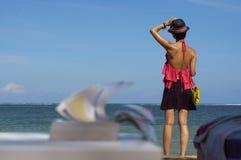 Leisure reading on beach Royalty Free Stock Photos
