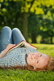 Leisure Reading in a Park Royalty Free Stock Photos
