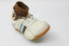 Leisure shoe with sock Stock Photos