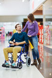 Leisure of shoppers Stock Images