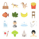 Leisure, shopping, hobby and other web icon in cartoon style.hair, ecology, faith icons in set collection. Leisure, shopping, hobby and other  icon in cartoon Royalty Free Stock Photo