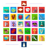 Leisure, sport, transportation and other web icon in flat style.dress, robbery, business icons in set collection. Stock Images