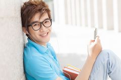 Leisure of a student Stock Photo