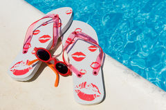 Leisure at the swimming pool Stock Photography