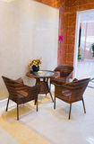 Leisure table and chairs Stock Images