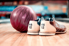 Leisure time in bowling club Royalty Free Stock Images