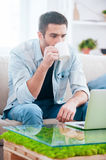 Leisure time at home. Stock Photos
