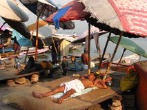 Leisure time for locals in India Stock Image