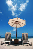 Leisure time at Phuket. 's white sandy beach and green clear andaman sea Stock Image