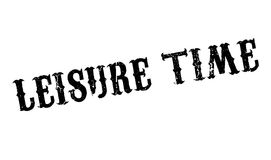 Leisure Time rubber stamp Stock Photos