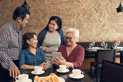 Leisure time of senior people Stock Photography