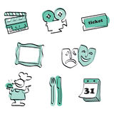 Leisure time set icon vector Stock Photos