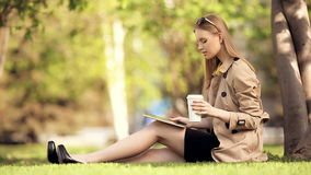 Leisure time with tablet. Stock Photo