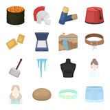 Leisure, tourism, business and other web icon in cartoon style.accessory, shorts, summer icons in set collection. Royalty Free Stock Photography