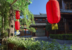Leisure Town. The ancient town of lijiang is a very suitable for leisure good place. n Stock Photography