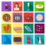 Leisure, trade, travel and other web icon in flat style.. Leisure, trade, travel and other  icon in flat style.wedding, celebration, business icons in set Royalty Free Stock Images