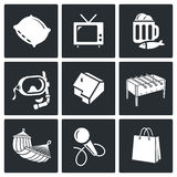Leisure Vector Icons Set Royalty Free Stock Photo