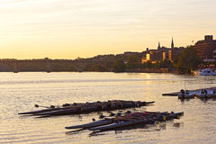 Leisure water activities on Potomac River in the US capital. Stock Photo