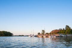 Leisureboats Norrpada Stockholm archipelago Royalty Free Stock Photos