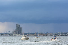 Leisureboats off Gdynia Royalty Free Stock Photography