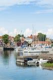 Leisureboats Oregrund harbour Sweden Royalty Free Stock Image