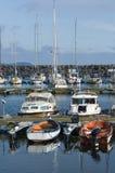 Leisureboats Simrishamn guest harbour Stock Photography