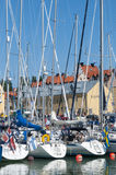 Leisureboats Visby guest harbour Stock Photos