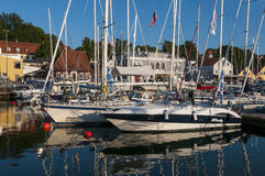 Leisureboats Visby guest harbour Stock Photo