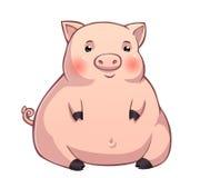 Leitão cor-de-rosa gordo bonito Imagem de Stock Royalty Free
