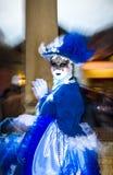 Leitartikel, am 4. März 2017: Rosheim, Frankreich: Venetianische Karnevals-Maske Stockbilder