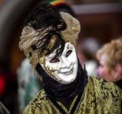 Leitartikel, am 4. März 2017: Rosheim, Frankreich: Venetianische Karnevals-Maske Lizenzfreie Stockfotos