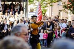 Leitartikel, am 4. Oktober 2015: Barr, Frankreich: Party-DES Vendanges Stockbild