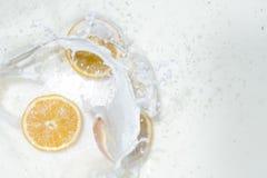 Leite com laranja imagens de stock royalty free