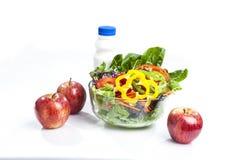 Leite de Apple e da salada Imagem de Stock