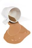 Leite de chocolate derramado Imagem de Stock