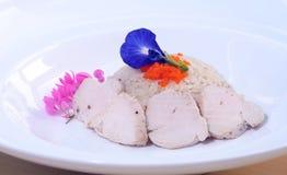 Leite de coco da galinha com sopa de ervilha da borboleta Fotografia de Stock Royalty Free