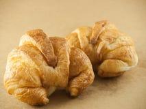 Leite do croissant Foto de Stock Royalty Free