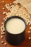 Leite do feijão da soja fotos de stock