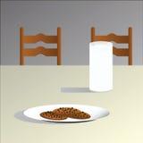 Leite e bolinhos Imagem de Stock