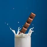 Leite e chocolate Imagem de Stock
