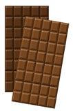 Leite e chocolate escuro Foto de Stock Royalty Free
