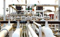 Leiten Sie Transport Öl, Erdgas oder Wasser durch Rohre Lizenzfreies Stockbild