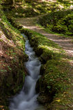 Leitenwaal, South Tyrol. Trail at the Leitenwaal Irrigation channel near Schluderns, South Tyrol Stock Image
