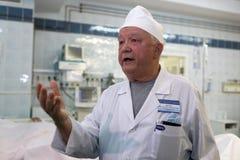 Leiter der Abteilung der thermischen Verletzung des St- PetersburgForschungsinstituts von Notmedizin Konstantin Krylov Lizenzfreie Stockfotografie