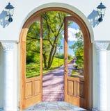 Leiter der offenen Tür Stockbild