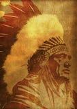 Leiter des amerikanischen Ureinwohners Lizenzfreies Stockfoto