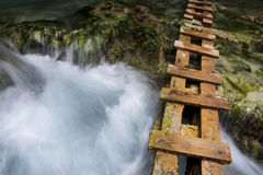 Leiter für Wanderer entlang Havasu-Nebenfluss Stockbild